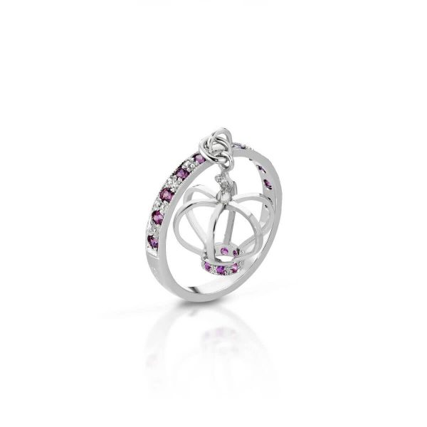Rhodolite and pink sapphire ring