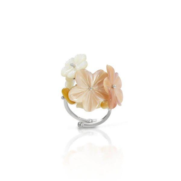 Mother of pearl Flower-En ring