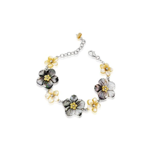 Mother of pearl Flower-En bracelet