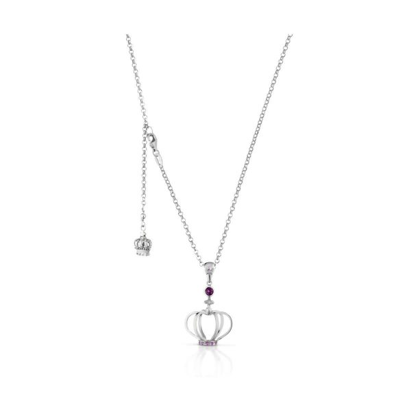 Rhodolite,  pink sapphire and 8/8 diamond cut necklace
