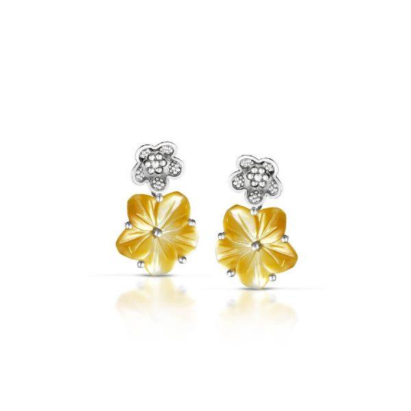 Mother of pearl Flower-En earrings